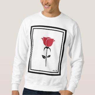 Rose Collection White Crewneck Sweatshirt