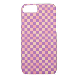 rose color chess pattern iPhone 7 case