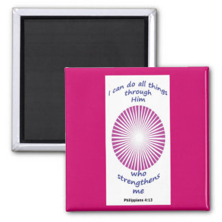 rose colored inspirational magnet