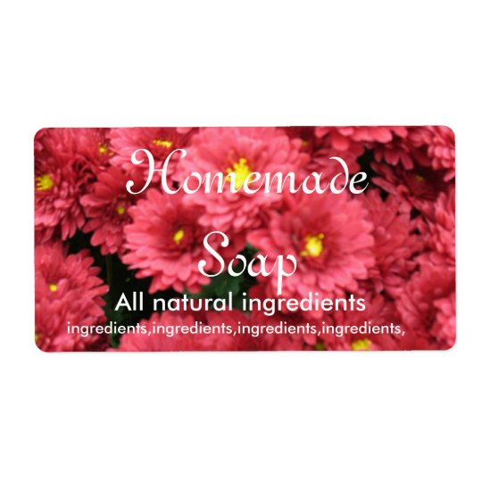 Rose Coloured Floral Homemade Soap Label Shipping Label