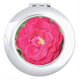 Rose compact mirror for makeup