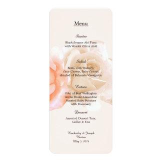 "Rose Confection Menu 4"" x 9.25"" Card"