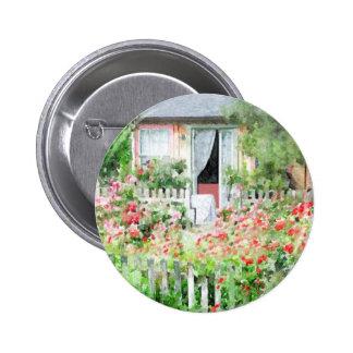Rose Cottage 6 Cm Round Badge