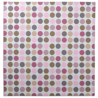 Rose Cream Pink Brown Polka Dot Pattern Napkin