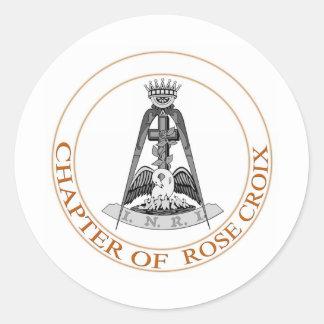 Rose Croix  Symbol Classic Round Sticker