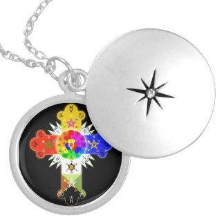 Rose Cross Lamen Locket