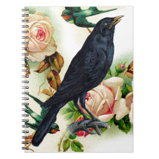Rose Crow Courage Notebook