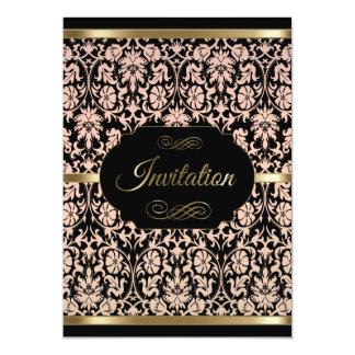 Rose Damask Party Celebration- Damask | DIY Text 13 Cm X 18 Cm Invitation Card