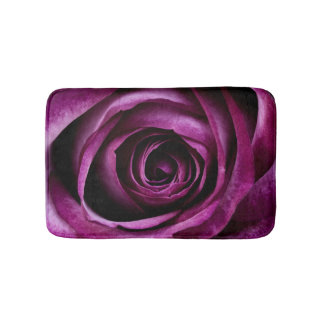 Rose Dark Plum Bath Mat