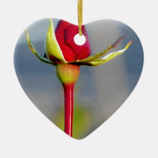 rose ceramic heart decoration