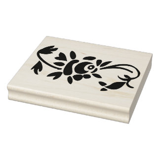 Rose Decoration Right Side Rubber Art Stamp