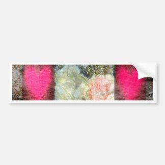 Rose Design Collage Bumper Sticker