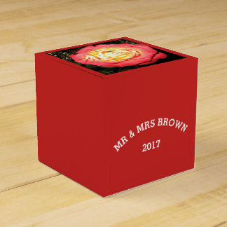 Rose Design Wedding Favor or Gift Box Favour Box