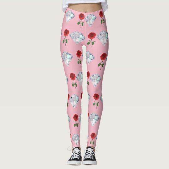 Rose & Diamond Leggings