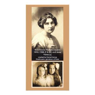 Rose Emma Hodges (Quinn) & sister Verna Photo Card