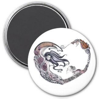 Rose Faery 7.5 Cm Round Magnet