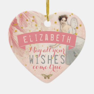 Rose Fairy Ballet | Wishes Ceramic Heart Decoration