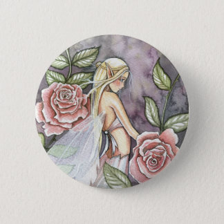 Rose Fairy Pin, Button by Molly Harrison