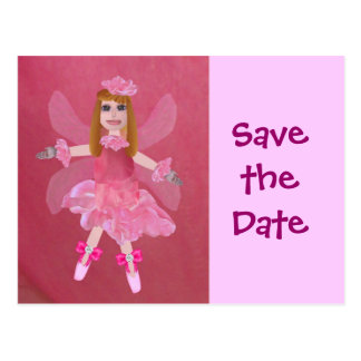 Rose Fairy, Save the Date Postcard