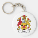 Rose Family Crest Keychains