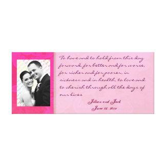 Rose Fantasy WEDDING Vows Keepsake Display Canvas Prints