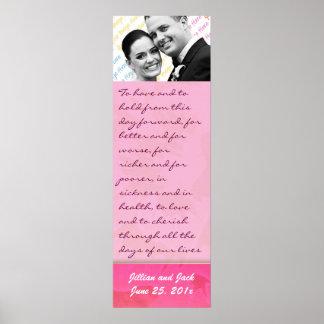 Rose Fantasy WEDDING Vows Keepsake Display Posters