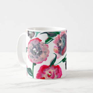 Rose floral 11oz coffee mug