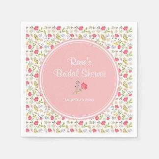 Rose Floral | Bridal Shower Paper Napkin