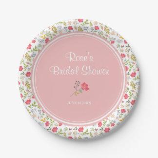 Rose Floral | Bridal Shower Paper Plate