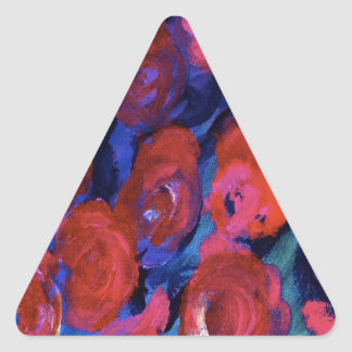 Rose Floral Design Products Triangle Sticker