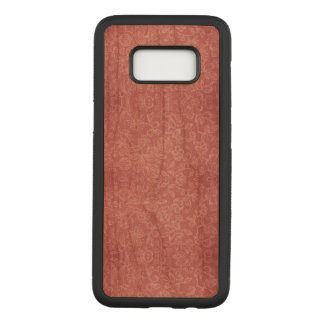 Rose Floral Fabric Texture Samsung Wood Case