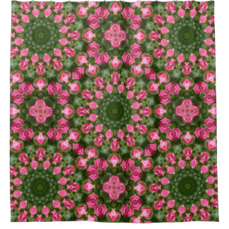 Rose, Floral mandala-style Shower Curtain