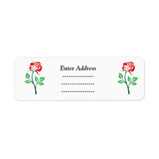 Rose flower  address label Sticker