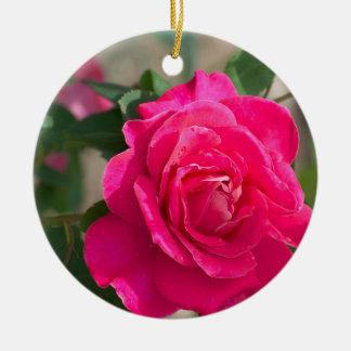 Rose flower christmas ornament