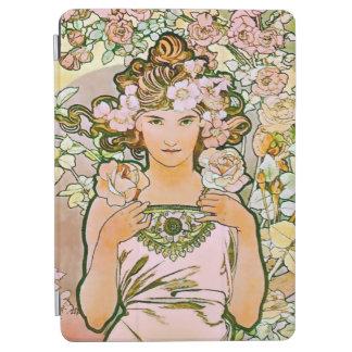 Rose Flower Girl Alphonse Mucha Fine Art iPad Air Cover
