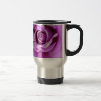 Rose Flower Lavender Purple Pink pretty floral Travel Mug