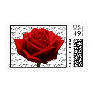 Rose Flower Love Postage Wedding Flowers
