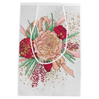 Rose Flower Medium Gift Bag