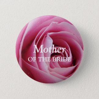 Rose flower petal pink wedding name tag badge pin