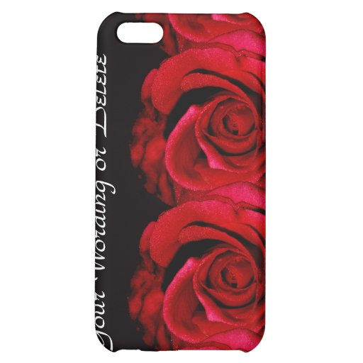 Rose flower red iPhone 5C covers