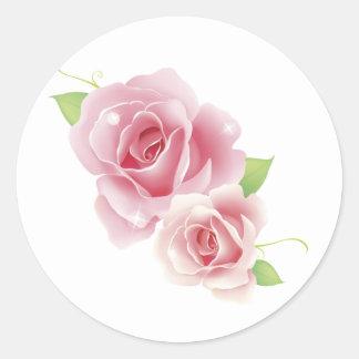 Rose Flower Round Sticker