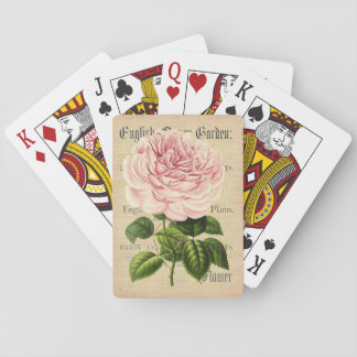Rose flower vintage feminine floral playing cards