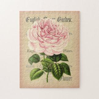 Rose flower vintage feminine floral puzzle