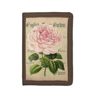 Rose flower vintage feminine floral wallet