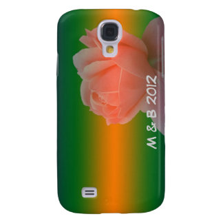 rose flower, wedding, thank you, save the date samsung galaxy s4 cases