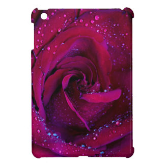 rose flowers flower red water droplets date dance iPad mini covers