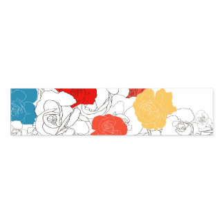 Rose flowers napkin band