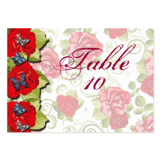 Rose Flowers Wedding Seating Cards Business Card Template