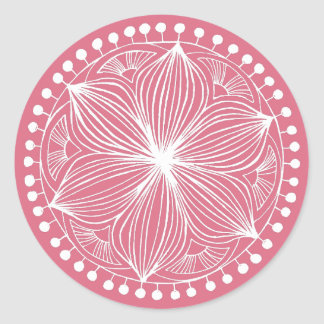 Rose Frankie Mandala Classic Round Sticker