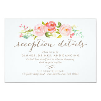 Rose Garden 2-Sided Accommodations Reception Card